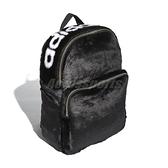 【三折特賣】adidas 後背包 Classic Backpack 黑 白 Logo 時尚 絨毛 毛毛 男女款 【ACS】 DH4373
