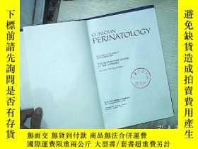 二手書博民逛書店CLINICS罕見IN PERINATOLOGY SEPT 19