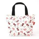 Sanrio HELLO KITTY緞帶文具系列帆布迷你提袋(白)★funbox生活用品★_UA42421