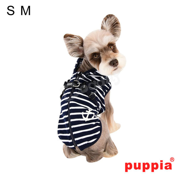 美系時尚《PUPPIA》條紋胸背上衣 S/M號 小狗衣服 小型犬衣服  春裝 薄衣 馬爾濟斯/貴賓