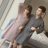浴衣 百搭條紋日本和服情侶棉紗布睡衣睡袍日式和風復古開衫男女浴衣