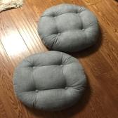 亞麻蒲團加厚圓形大號布藝地板打坐日式陽臺飄窗榻榻米坐墊