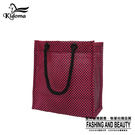 手提袋-編織袋(S)-黑桃紅-03C