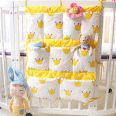 全館79折-嬰兒床收納袋ins款床頭收納袋床頭掛袋嬰兒床邊收納整理袋多花色