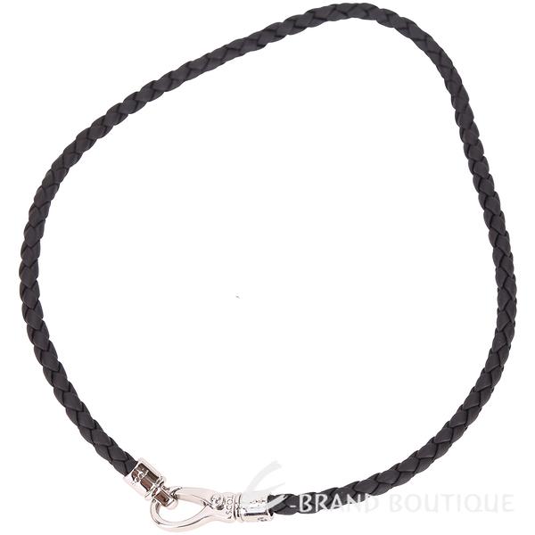 TOD'S MyColors Braided 編織小牛皮手環(黑色) 1730179-01