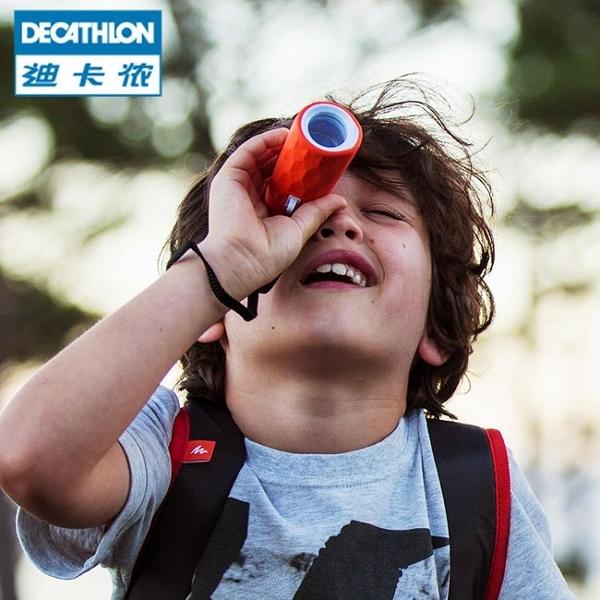 迪卡儂 兒童定焦光學多彩單筒望遠鏡 戶外徒步露營 小巧便攜 QUOP