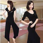 春夏女短袖黑色瑜伽服套裝Eb12254『小美日記』