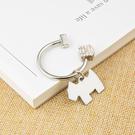 鑰匙圈 雪納瑞吊墜鑰匙?掛件創意汽車鑰匙扣男士女士鑰匙圈環鎖匙扣 店慶降價