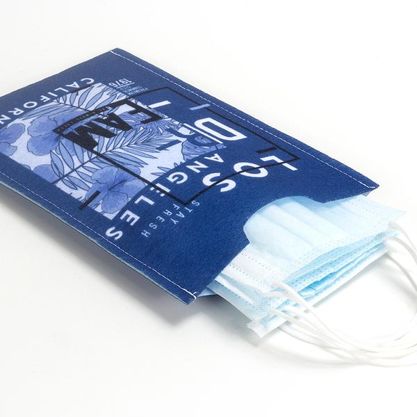 【100個含彩色印刷】超聯捷 口罩收納袋 毛氈布(直式) 台灣製 客製 宣導品 禮贈品 S1-25068-100