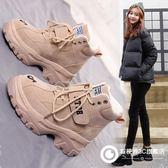 馬丁靴女棉鞋2018秋冬季新款英倫學生瘦瘦百搭雪地加絨網紅短靴子