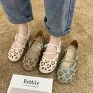 洞洞鞋 鏤空單鞋女晚晚風涼鞋夏季新款平底百搭洞洞鞋ins潮透氣網鞋