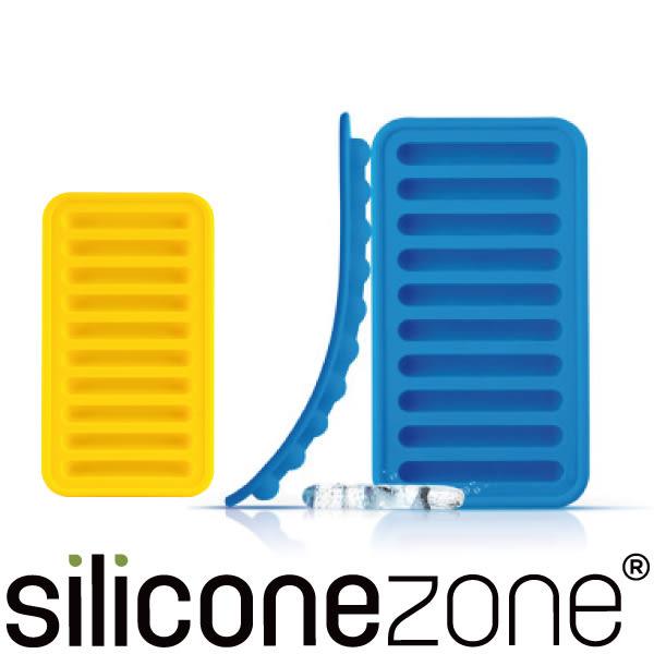 【Siliconezone】施理康矽膠長條製冰模-藍/黃(2入裝)