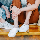native水鞋 女鞋 修身鞋 洞洞鞋 休閒鞋 懶人鞋 JERICHO K9426#白色◆OSOME奧森鞋業