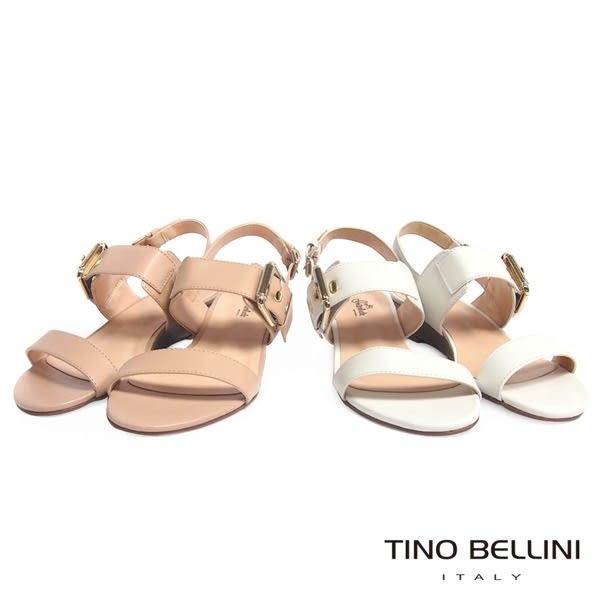Tino Bellini 巴西進口氣質雙釦帶小坡跟涼鞋(淺駝)_C63005  2016SS歐洲進口款