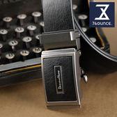 74盎司 皮帶 鐵牌設計自動釦真皮皮帶[Z-270]