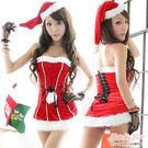 聖誕洋裝 平口連身裙聖誕裝 紅色聖誕服+...