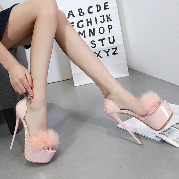 恨天高鞋性感夜店魚嘴細跟超高跟女鞋 JD3191【3C環球數位館】