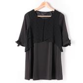 洋裝【MASTINA 】多層次 洋裝黑10501
