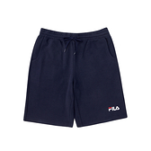 FILA 男款丈青色針織短褲-NO.1SHV-1509-NV
