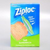 美國【Ziploc】密保諾三明治保鮮袋145入/16.5*14.9cm