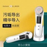 導入儀臉部按摩器多功能精華導入美容儀清潔排毒潔面V臉提拉家用 雙十一特惠