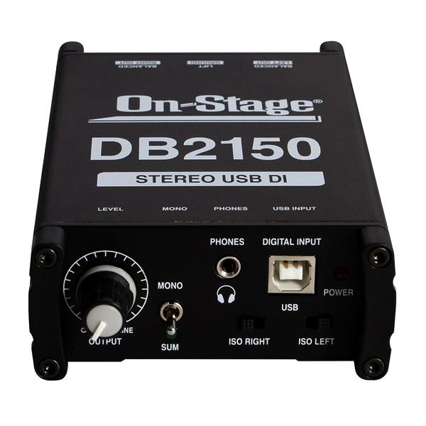 【音響世界】美國On-Stage DB2150阻抗轉換器DI BOX 24bit/96KHz立體訊號USB