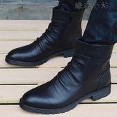 馬丁靴子潮流男鞋增高短靴