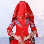 紅蓋頭新娘結婚刺繡新款喜帕蒙頭巾婚慶用品中式秀禾服包袱皮 晴天時尚館