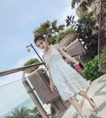 海邊度假沙灘裙夏 超仙性感吊帶洋裝   瑪奇哈朵