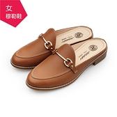 【A.MOUR 經典手工鞋】穆勒鞋 - 棕 / 低跟鞋 / 進口小牛皮 / DH-7829