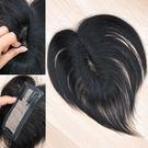 100%真髮髮片 少女遮白髮髮片 頭頂髮...