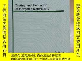 二手書博民逛書店Testing罕見and Evaluation of lnorg