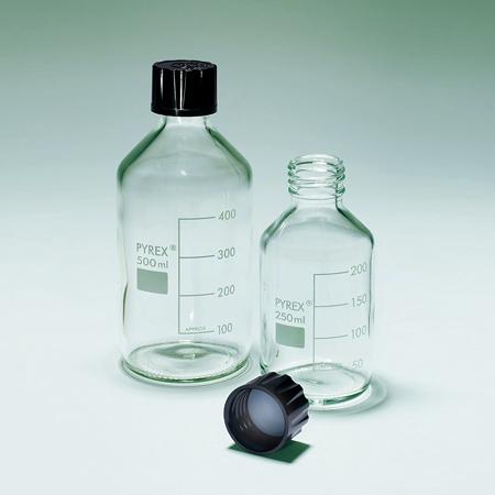 《PYREX》試劑瓶 PTFE墊片 Bottle, Media, Screw Cap, PTFE Faced Liner