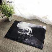 北歐現代簡約長條地墊 進門入戶臥室床邊衛生間防滑吸水絨面地毯【櫻花本鋪】