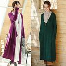 外套-全棉寬鬆毛衣棉麻風針織長版風衣/設計家 Z8936