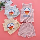 女童睡衣夏季純棉套裝中大童公主寶寶女孩薄款兒童家居服卡通可愛7 幸福第一站