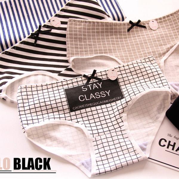 Black 黑白流行趨勢 三角褲 女性內褲 均碼不挑款 【庫奇小舖】