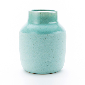Lance蘭斯寬口陶瓷花器19cm 淺綠