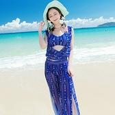 泳衣(四件式)-比基尼浪漫飄逸裙襬優雅女泳裝-73mb47【時尚巴黎】