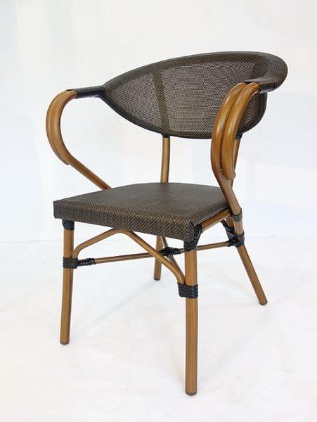 【南洋風休閒傢俱】戶外休閒桌椅系列-鋁布餐椅  戶外扶手餐椅  星巴克餐椅 適戶外 餐廳(HC005)