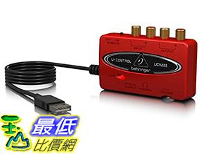 [106美國直購] BEHRINGER U-CONTROL UCA222 錄音介面 Ultra-Low Latency 2 In/2 Out USB Audio Interface