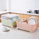 家用帶蓋碗碟架放碗架收納盒瀝水架 裝碗筷收納箱廚房碗柜置物架 【免運】