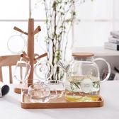 小清新玻璃冷水壺耐熱防爆夏天泡茶壺涼開水杯壺家用晾水壺大容量