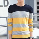 618好康鉅惠韓版針織衫男裝高中學生長袖t恤衣服