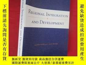 二手書博民逛書店Regional罕見Integration and Development (小16開) 【詳見圖】Y5460