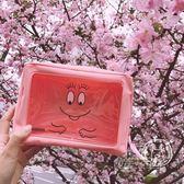 可愛卡通日系粉色巴巴爸爸化妝包便攜收納包