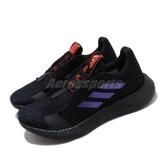 adidas 慢跑鞋 SenseBOOST Go W 黑 藍 女鞋 運動鞋 【PUMP306】 EF0708