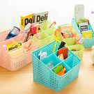 創意桌面塑料多格整理盒學生宿舍化妝品收納盒辦公室客廳分類盒 滿598元立享89折
