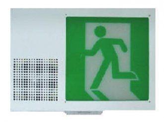 消防器材批發中心 SH-201PSHVO-EX 消防署認證 語音閃燈型出口燈.聲光出口燈