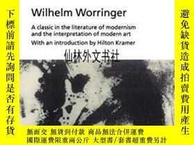二手書博民逛書店【罕見】1997年出版 Abstraction And EmpathyY27248 Wilhelm Worri